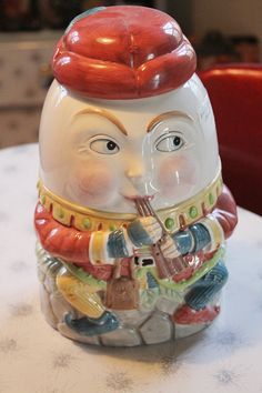 Shafford Humpty Dumpty Cookie Jar by SideshowVintage on Etsy, $90.00