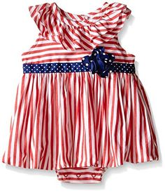 Little Me Baby Stripes Sunsuit Red Stripe 3 Months *** Click image for more details.