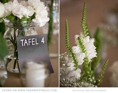 Green wedding inspiration- table numbers | Photo: Cari Photography