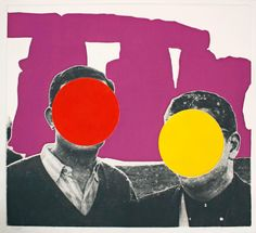 Stonehenge (With Two Persons) Violet 1by John Baldessari, c. 2005
