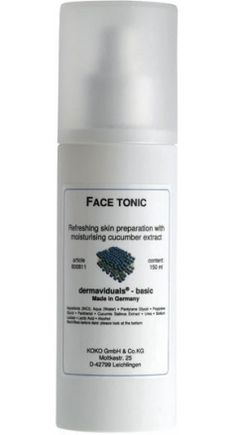 """Tone and soothe skin with Cucumber extract and Panthenol in our """"Face Tonic"""""""