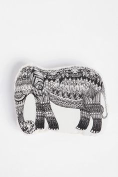The Rise and Fall Etched Elephant Pillow  #UrbanOutfitters   {Whimsical and unique - a great conversation piece.}