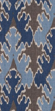 KELLY WEARSTLER | BENGAL BAZAAR TEA FABRIC. In Grey/Indigo