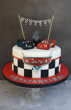 20 Excellent Photo Of Cars Birthday Cake Jackson Storm And Lightning Mcqueen My Cakescookies In