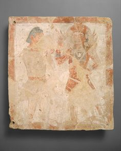 A Kushan painting from the 3rd Century showing the god Farro with a worshipper. Farro himself wears a tunic with a square panel at the collar. Such fashions became popular in Europe during the Migration Period. This is the first depiction of such a layout