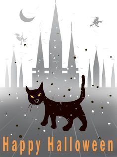Pin for Later: 20 Free Halloween Printables to Get You in the Spooky Spirit Black Cat Invite You can get your paws on this adorable black cat invite over at Got Free Cards.