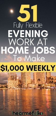 Are you in search of some evening or late night work at home jobs? Check out this list of 50 genuine late night work at home jobs that pay you every day. Earn Money From Home, Way To Make Money, Make Money Online, Money Fast, How To Make, Work From Home Opportunities, Work From Home Jobs, Business Opportunities, Youtube Tips