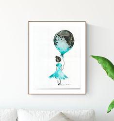 grafika 30 x 40 cm, abstrakcja, obraz do salonu Childrens Wall Art, Art Wall Kids, Art For Kids, Kids Poster, Room Pictures, Baby Nursery Decor, Creative, Abstract Art, Ink