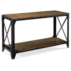 Shop for Pinebrook Industrial Distressed Natural Pine Wood Entryway Console Table. Get free shipping at Overstock.com - Your Online Furniture Outlet Store! Get 5% in rewards with Club O! - 15382857