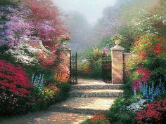 The Victorian Garden | The Thomas Kinkade Company