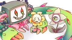 pixiv is an illustration community service where you can post and enjoy creative work. A large variety of work is uploaded, and user-organized contests are frequently held as well. Flowey Undertale, Undertale Fanart, Undertale Comic, Frisk, Flowey The Flower, Alice Mare, Mad Father, Corpse Party, Underswap