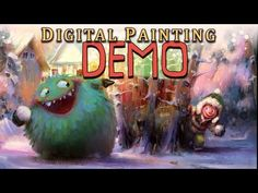 Full Digital Painting Demo - YouTube