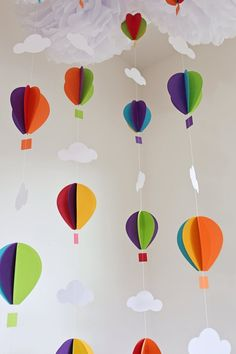 27 new Ideas diy kids room decorations air balloon Summer Crafts For Kids, Mothers Day Crafts For Kids, Diy For Kids, Diy Party Decorations, Balloon Decorations, Balloon Ideas, Rainbow Balloons, Rainbow Theme, Balloon Garland