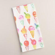World Market -  Ice Cream Flour Sack Kitchen Towel, $5.99, worldmarket.com sale $4.49