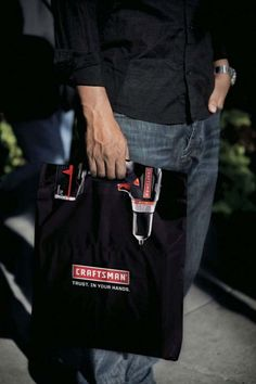 poetrycafe Creative Shopping Bag Designs Craftsman_Tools_Drill