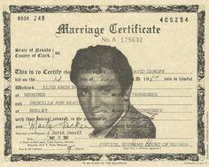 Un certificat de mariage atypique pour un mariage à Vegas !