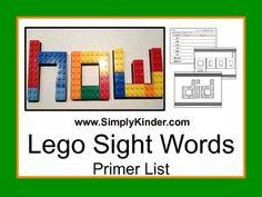 Lego Primer Sight Words