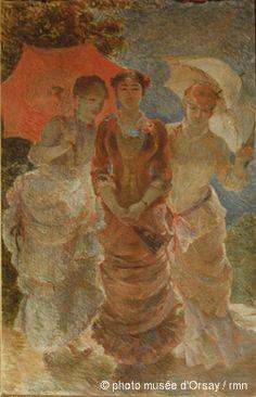 Marie Bracquemond Trois femmes aux ombrelles entre 1841 et 1916 Musée d'Orsay