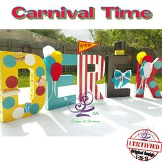 Carnival theme letters