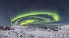 Aurora Borealis over Sortland, Northern Norway. Photo Benny Høynes