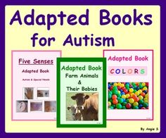Adapted Books for Autism Bundle, for more resources follow https://www.pinterest.com/angelajuvic/autism-special-education-resources-angie-s-tpt-sto/