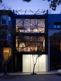 Gallery House San Francisco fachada. Puro funcionalismo  en su interior.