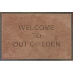 Door Mats with Personalisation At Out of Eden. UK Hotel, Guest House, and Self Catering Supplies Out Of Eden, Door Mats, Reception, Doors, Receptions, Doormats, Gate