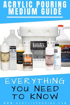 Acrylic Pouring Medium Guide: Everything You Need to Know What is an acrylic pouring medium and how do I use it in my fluid paintings? We break this down for you and more! Acrylic Paint Mediums, Flow Painting, Acrylic Painting For Beginners, Acrylic Painting Techniques, Pour Painting, Acrylic Painting Canvas, Acrylic Art, Diy Painting, Knife Painting