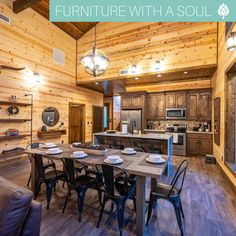 Dining Table $544 This cabin looks like the perfect summer getaway - with plenty of seating for the entire family! 🏔  📷: @holdyourhorsesbrokenbow A Table, Dining Table, Dining Decor, Conference Room, Cabin, Summer, Furniture, Home Decor, Homemade Home Decor
