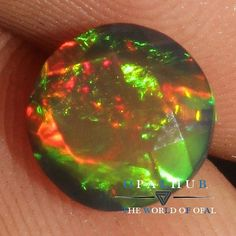 7x7 MM Natural Ethiopian Welo Fire Black Opal Faceted Cut Gemstone Play 677H