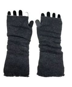 NWT-Gingas-Galleria-Fashion-Arm-Warmers-Soft-Knitted-Pair-Solid-DARK-GRAY