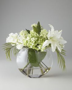 John-Richard Collection - Green & White Faux Flowers