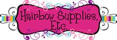 Hairbow Supplies Etc.  This site has tons of colors and styles of hair craft supplies at really good prices.  I just ordered 10 yards of different color patterned elastic to make yoga ties for only $5.