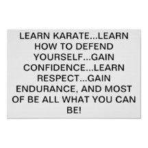 learn karate...