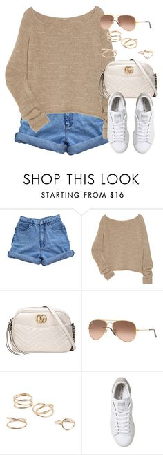 """Sin título #13241"" by vany-alvarado ❤ liked on Polyvore featuring Bill Blass, The Row, Gucci, Ray-Ban, MANGO and adidas"