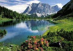 Seebensee Lake in Austria