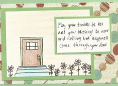 Debbie Dots Greeting Card Blog: New Home Door
