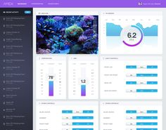 Dashboard / Apex Aquarium System - by Brandon Termini for Handsome   #ui
