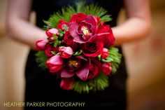 Christmas wedding flowers by Dilly Lily in Chicago