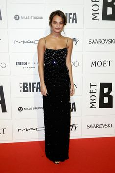 Alicia Vikander in Louis Vuitton attends The Moet British Independent Film Awards 2015 on December 6, 2015