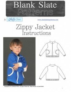 Unisex Zippy Jacket PDF Pattern - 18M to 8 Years - by Blank Slate Patterns