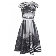 Mary Katrantzou Babelonia landscape print satin twill dress on shopstyle.co.uk