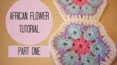 african flower crochet - YouTube -EXCELLENT TUTORIAL (UK TERMS BUT EASILY ADAPTS TO US TERMS e.g. triple crochet=double crochet)