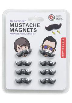 Instant Gentleman Magnets by Kikkerland - Black, Solid, Menswear Inspired