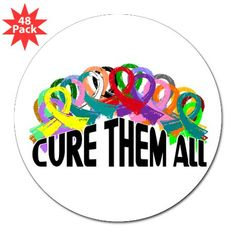 """Cure Them All 3"""" Lapel Sticker (48 pk) We could make a poster like this to decorate our campsite."""