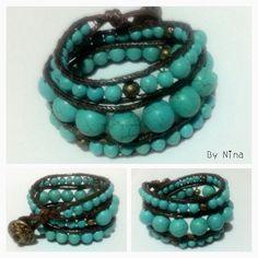 Pulsera estilo Chan Luu turquesa❤️/ Wrap bracelet