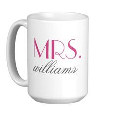 Custom Mrs. Coffee Tea Mug Cup Personalized Bride-to-Be Unique PERFECT Wedding Gift  #wedding