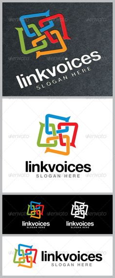 Link Voices Logo Template