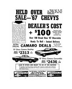 New Chevy, Advertising, Ads, Chevy Camaro, Muscle Cars, Classic Cars, Automobile, Car, Chevrolet Camaro
