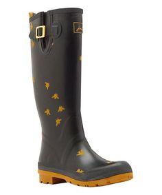 Loving this Black Bee Welly Rain Boot - Women on #zulily! #zulilyfinds